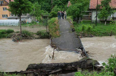 Lašva urušila most na Kaoniku kod Busovače